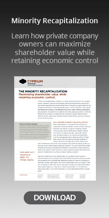 minority recapitalization